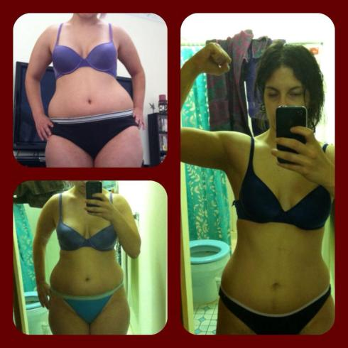 On the Left, Is my body in August when I joined crossfit. On the Right is my body as of May 2013.