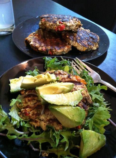 great on a salad and topped with a few creamy avacado slices!