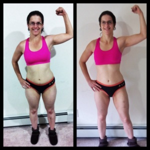 Comparing my body at the start and end of the Fall 3013 whole Life Challenge.